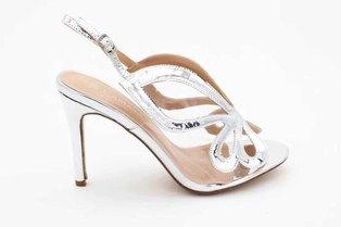 LaMara Paris Cinderella glass slipper Vinyl sandals silver