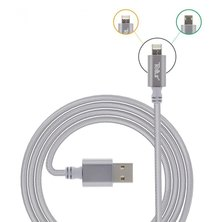 Tellur Nylon Braided 2 in 1 Cable Reversible USB to microUSB & lightning