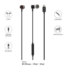 Tellur In-Ear Lightning Headphones MFi Certified Black