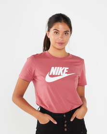 Nike W NSW Essential Icon Futur Tee Red
