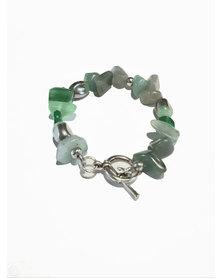 Designs by Ilana Semi Precious Stone Bracelet Green
