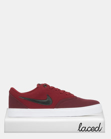 Nike SB Check Solar Sneakers Maroon/Black/Red