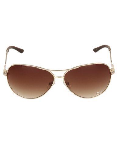 Guess Aviator Sunglasses Gold  bed0811244