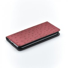 Tellur Book Case Magnetic  Genuine Leather with Ostrich Print for Samsung S7 Edge