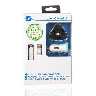 Tellur Car Kit: Cable 2in1 micro USB & Lightning