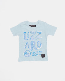 Lizzard Pre- Boys Cecil Short Sleeve Tee Blue