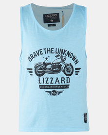 Lizzard Teen Boys Tain SS Tee Blue