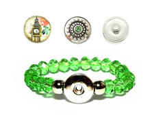 Urban Charm Snap Creations Crystal Bead Bracelet Set - Big Ben