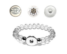 Urban Charm Snap Creations Crystal Bead Bracelet Set - Hope