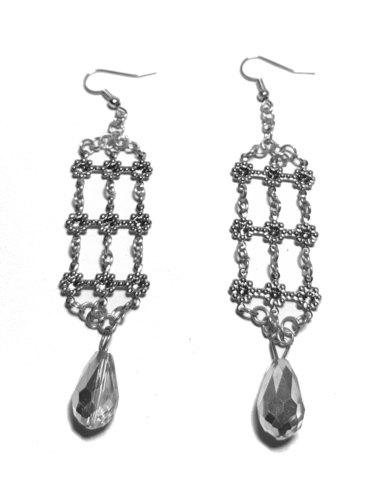 Designs by Ilana Chandelier Earrings Silver