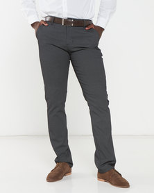 Soviet Leicester Printed Chinos Charcoal