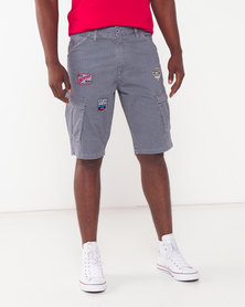 Soviet Thunder Cargo Shorts Grey