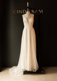 Cindy Bam Full Skirt Sequin Wedding Gown