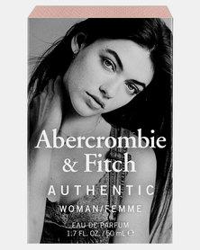 ABERCROMBIE AND FITCH Authentic Eau de Toilette For Women Clear