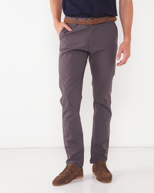 Utopia Grey Cotton Chino