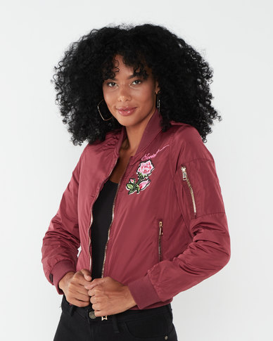 Soviet Ladies Fashion Bomber Jacket Port Red