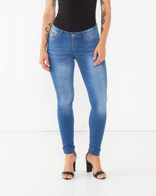 Soviet  Ladies Basic Skinny Jeans Indigo