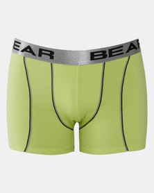 Bear 3Pk Contrast Stitch Bodyshorts Lime