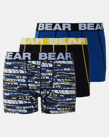 Bear 3Pk Arrow Print Bodyshorts Multi