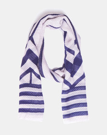 Blackcherry Bag Lightweight Scarf Blue/Light Grey