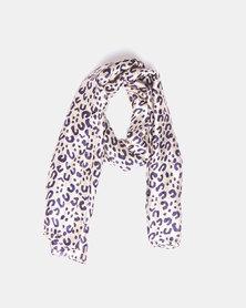 Blackcherry Bag Lightweight Scarf Leopard Print