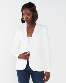 Queenspark Night Out Woven Jacket White
