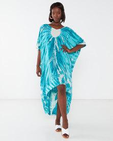 Allegoria Tie Dye Print Kaftan Blue