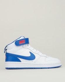 Nike Boys Hightop Court Borough Mid 2 Sneakers White