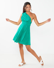 Sissy Boy Just A Fan Skater Dress Green