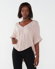 Utopia Viscose Batwing Top Pink