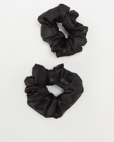 Jewels and Lace Scrunchies Black