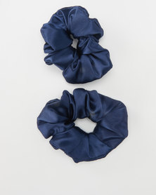 Jewels and Lace Scrunchies Navy