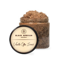 Black African Organics Vanilla Coffee Scrub, 250g