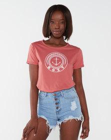 Roxy Love Sun  Short Sleeve Tee Red