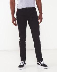 Soviet Strikers #4 Skinny Denim Jeans  Black