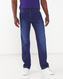 Soviet Rivez #5 Straight Leg Denim Jeans Navy