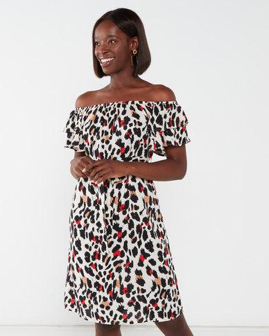 Utopia Animal  Print Floaty Dress Multi