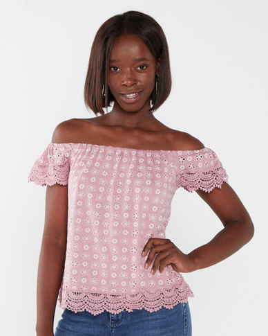 Utopia Anglaise Casual Top Pink
