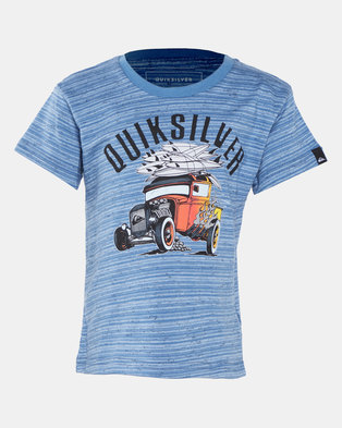 Quiksilver Hot Rod Toddlers Short Sleeve T-shirt Blue