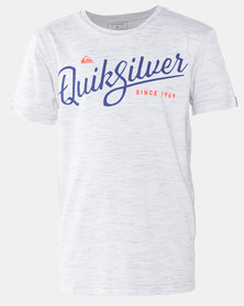 Quiksilver Radio Song Boy Short Sleeve T-shirt Grey