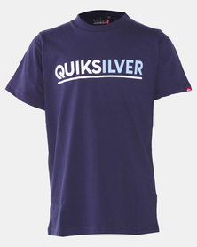 Quiksilver Opposit Attract Short Sleeve Youth T-shirt Blue