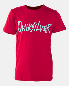 Quiksilver Scriptual Short Sleeve T-shirt Red