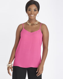 Contempo Strappy With Criss Cross Cami Bright Pink