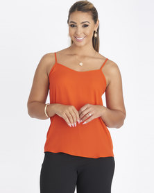 Contempo Strappy With Criss Cross Cami Orange
