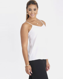 Contempo Strappy With Criss Cross Cami White