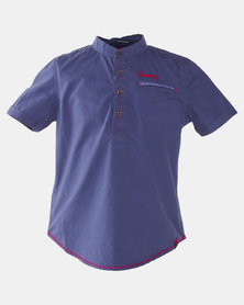 Soviet Finley Boys S/Slv Shirt Blue