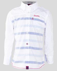 Soviet Salerno Boys S/Slv Shirt White