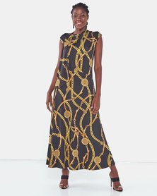 Famous Kate maxi dress in Chain Print
