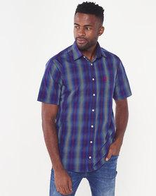 Polo Mens Weekender Short Sleeved Shirt Blue