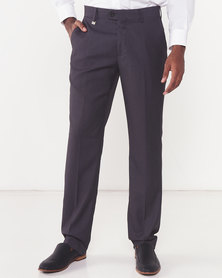 Polo Mens Classic Custom Fit Formal Trousers Charcoal